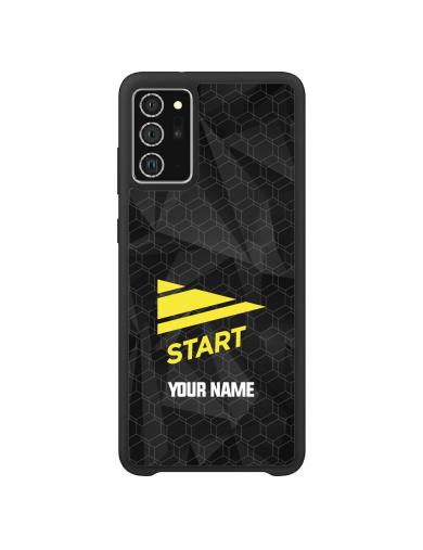Start Logo Sort + ditt navn...